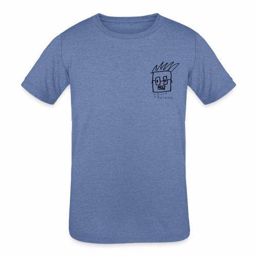 Uncle Knackers Self Portrait. - Kids' Tri-Blend T-Shirt