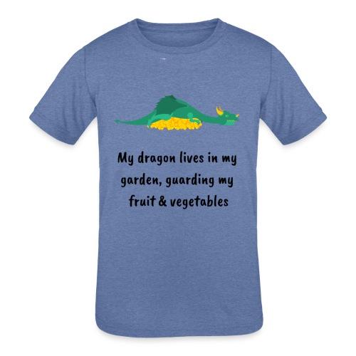 My dragon lives in my garden - Kids' Tri-Blend T-Shirt
