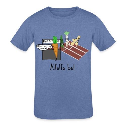 Alfalfa Bet - Kids' Tri-Blend T-Shirt