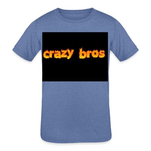 Crazy Bros logo - Kids' Tri-Blend T-Shirt