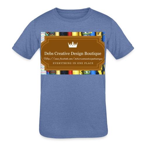 Debs Creative Design Boutique with site - Kids' Tri-Blend T-Shirt