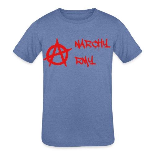 Anarchy Army LOGO - Kids' Tri-Blend T-Shirt