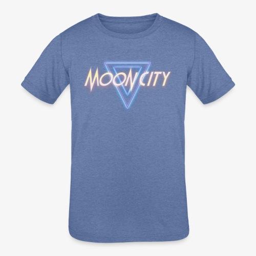 Moon City Logo - Kids' Tri-Blend T-Shirt
