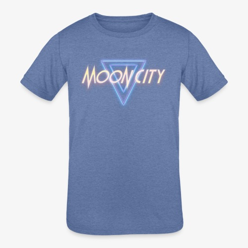 Moon City Logo - Kids' Tri-Blend T-Shirt