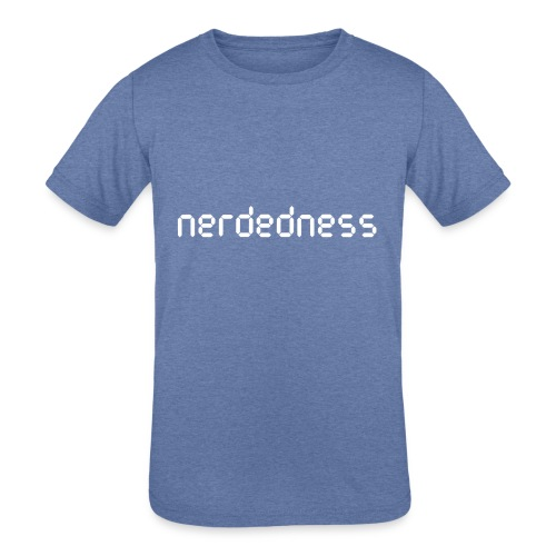 nerdedness segment text logo - Kids' Tri-Blend T-Shirt