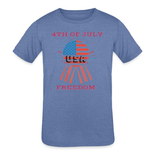 4th of July Freedom - Kids' Tri-Blend T-Shirt