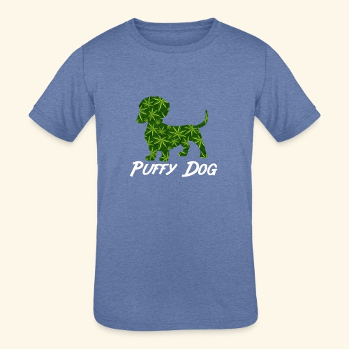 PUFFY DOG - PRESENT FOR SMOKING DOGLOVER - Kids' Tri-Blend T-Shirt