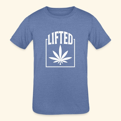 LIFTED T-SHIRT FOR MEN AND WOMEN - CANNABISLEAF - Kids' Tri-Blend T-Shirt