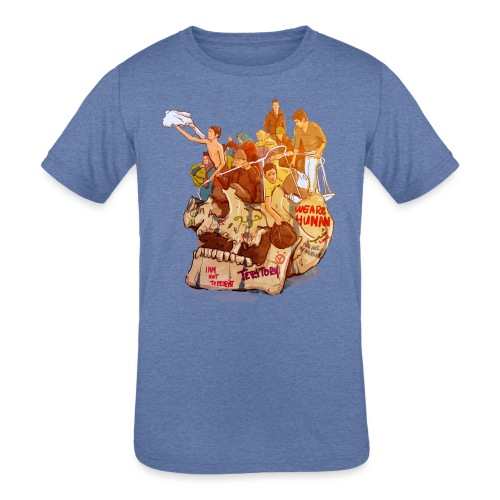 Skull & Refugees - Kids' Tri-Blend T-Shirt