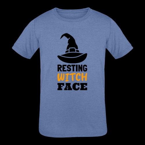 Resting Witch Face   Funny Halloween - Kids' Tri-Blend T-Shirt