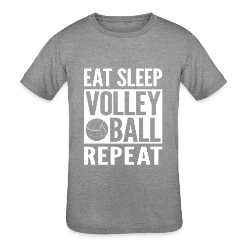 Eat Sleep Volleyball Repeat - Kids' Tri-Blend T-Shirt