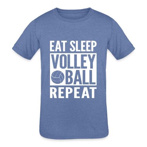 Eat Sleep Volleyball Repeat - Kids' Tri-Blend T-Shirt