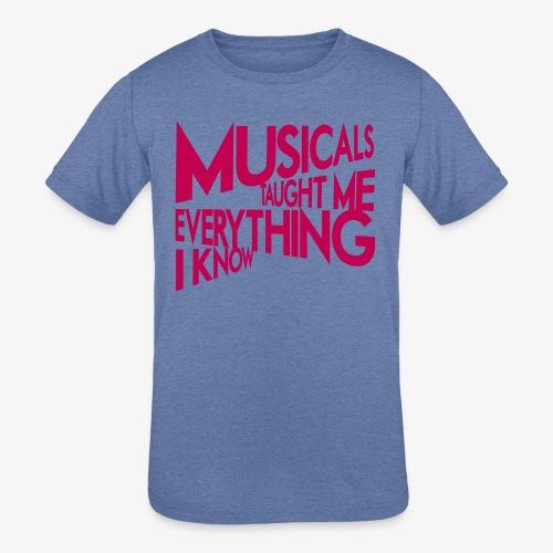 MTMEIK Pink Logo - Kids' Tri-Blend T-Shirt