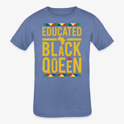 Educated Black Queen - Kids' Tri-Blend T-Shirt