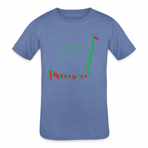 Wait for the short squeeze - Kids' Tri-Blend T-Shirt