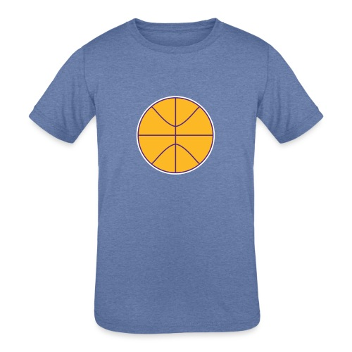 Basketball purple and gold - Kids' Tri-Blend T-Shirt