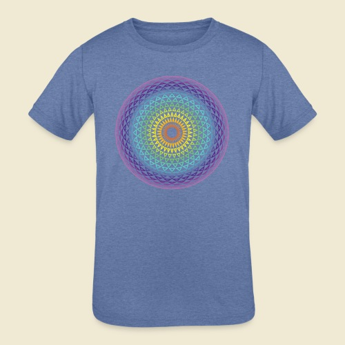 Torus Yantra Hypnotic Eye rainbow - Kids' Tri-Blend T-Shirt