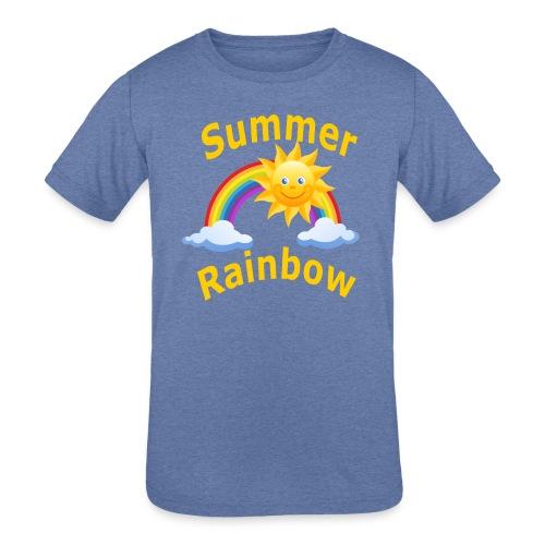 Summer Rainbow - Kids' Tri-Blend T-Shirt