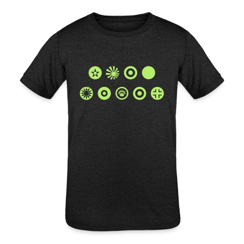 Axis & Allies Country Symbols - One Color - Kids' Tri-Blend T-Shirt