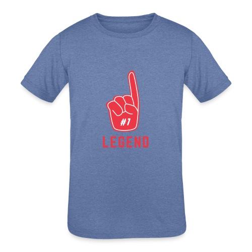 Number 1 Legend - Kids' Tri-Blend T-Shirt