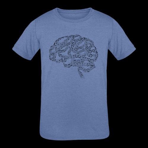 Sound of Mind | Audiophile's Brain - Kids' Tri-Blend T-Shirt