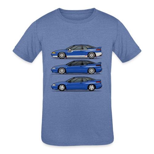 Subie Alcyone SVX Laguna Blue Pearl Trio - Kids' Tri-Blend T-Shirt