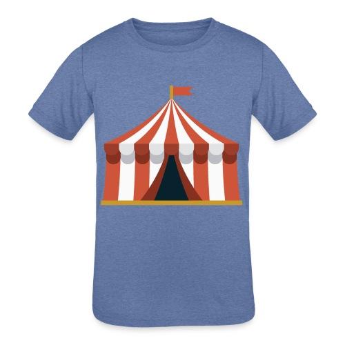 Striped Circus Tent - Kids' Tri-Blend T-Shirt