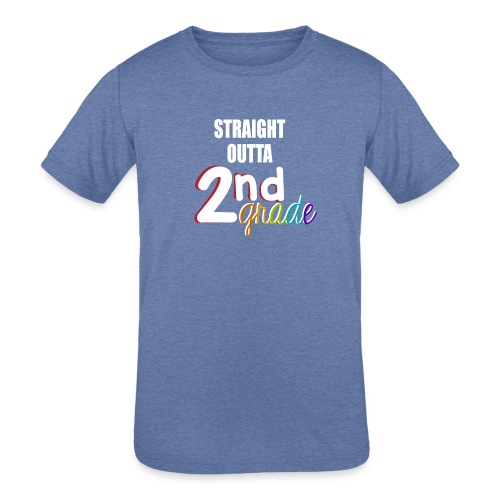 Straight Outta 2nd Grade - Kid's Tri-Blend T-Shirt