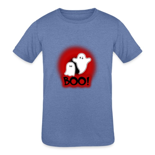 Ghosties Boo Happy Halloween 1 - Kids' Tri-Blend T-Shirt