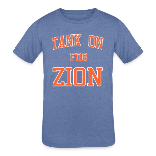 Tank On For Zion - Kids' Tri-Blend T-Shirt