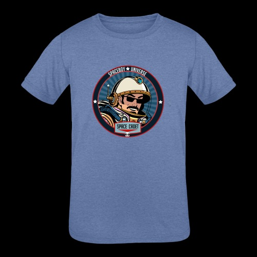 Spaceboy - Space Cadet Badge - Kids' Tri-Blend T-Shirt