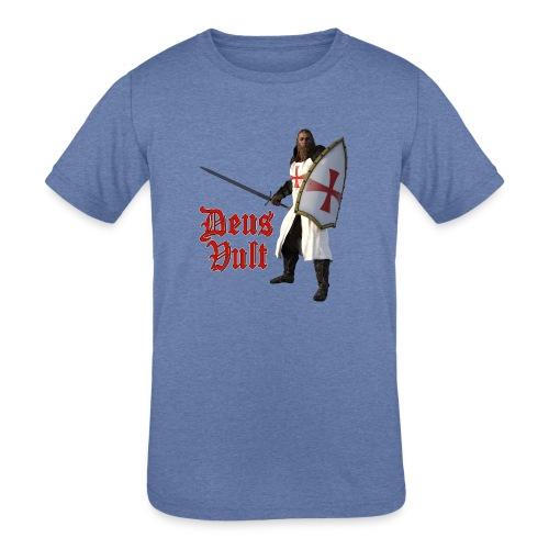 Crusader Deux Vult - Kids' Tri-Blend T-Shirt