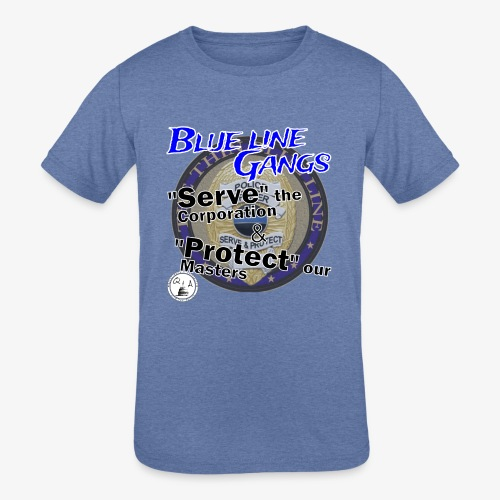 Thin Blue Line - To Serve and Protect - Kids' Tri-Blend T-Shirt