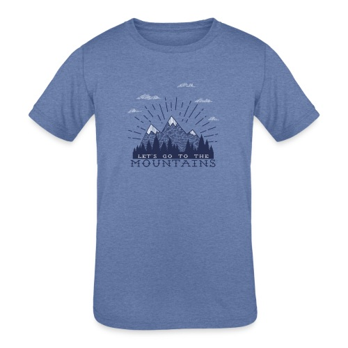 Adventure Mountains T-shirts and Products - Kids' Tri-Blend T-Shirt