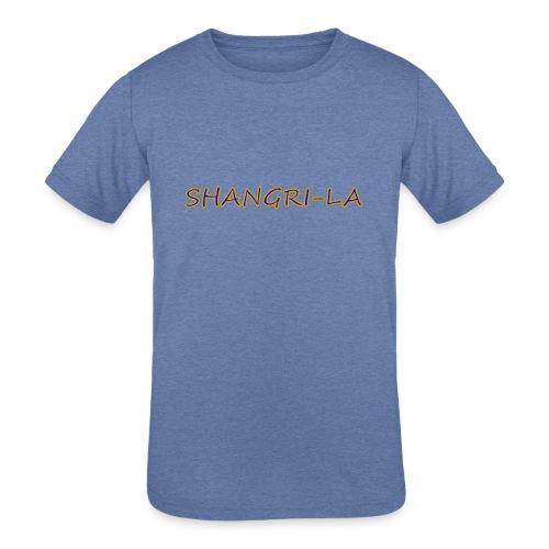 Shangri La gold blue - Kids' Tri-Blend T-Shirt