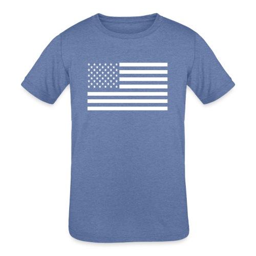 USA American Flag - Kids' Tri-Blend T-Shirt