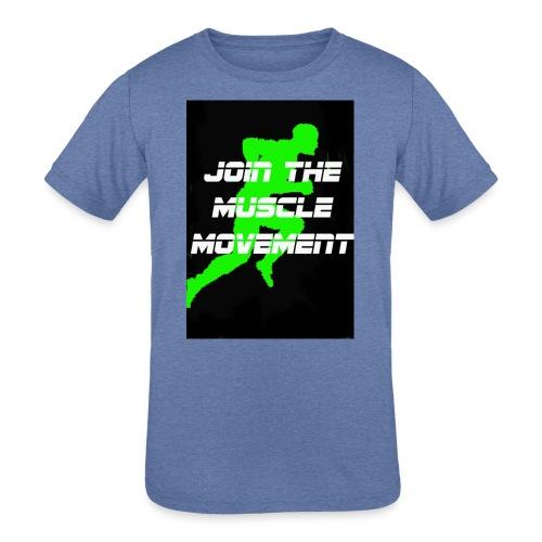 muscle movement - Kids' Tri-Blend T-Shirt