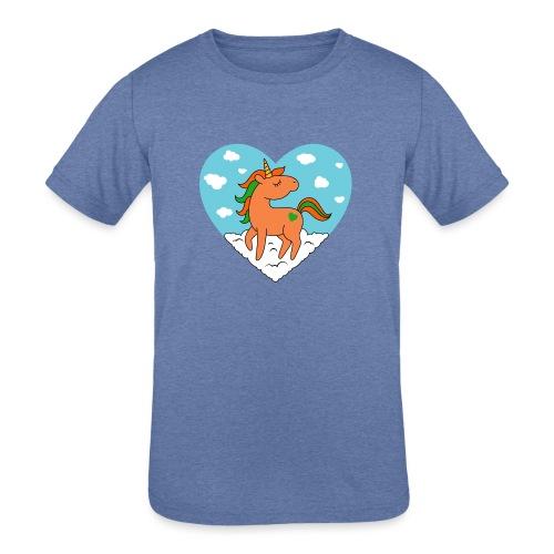 Unicorn Love - Kids' Tri-Blend T-Shirt