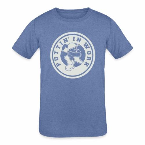 P.I.W White Logo - Kids' Tri-Blend T-Shirt