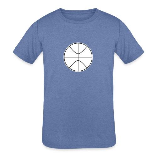 Basketball black and white - Kids' Tri-Blend T-Shirt