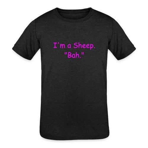 I'm a Sheep. Bah. - Kids' Tri-Blend T-Shirt