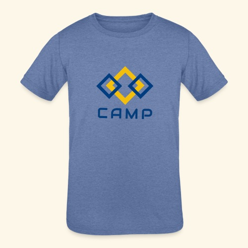 CAMP LOGO and products - Kids' Tri-Blend T-Shirt