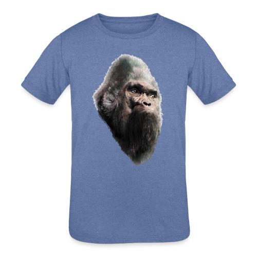 Sasquatch Bigfoot Vintage Portrait - Kids' Tri-Blend T-Shirt