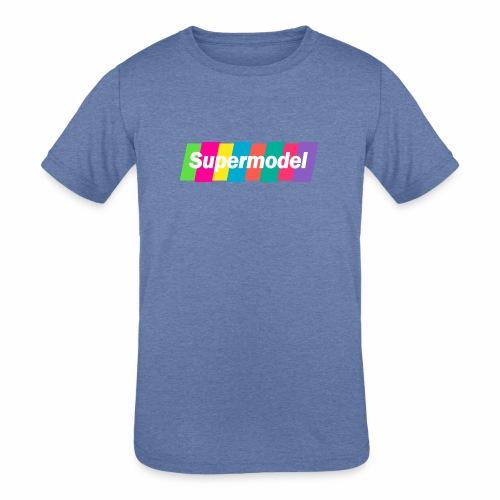 Supermodel Neon Colors - Kids' Tri-Blend T-Shirt