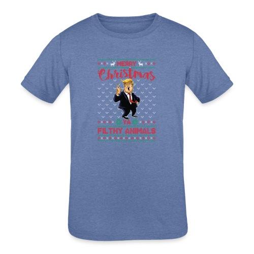 MEERRY CHRISTMAS YA FILTHY ANIMALS - Kids' Tri-Blend T-Shirt