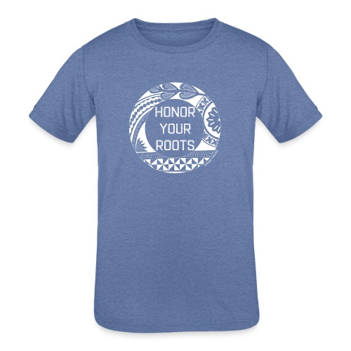 Honor Your Roots (White) - Kids' Tri-Blend T-Shirt