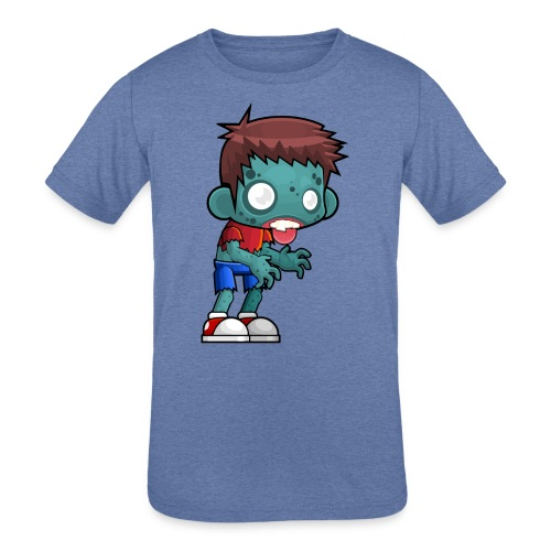 male zombie - Kids' Tri-Blend T-Shirt
