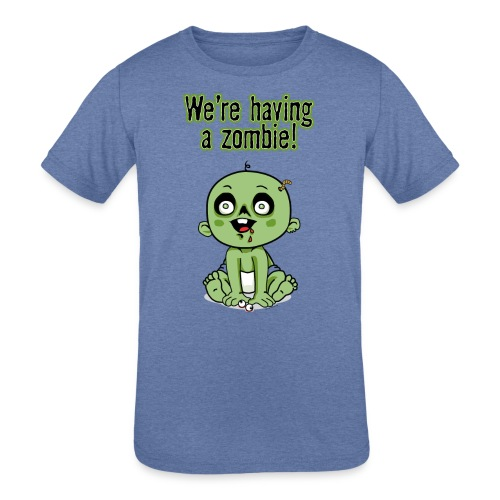 We're Having A Zombie! - Kids' Tri-Blend T-Shirt