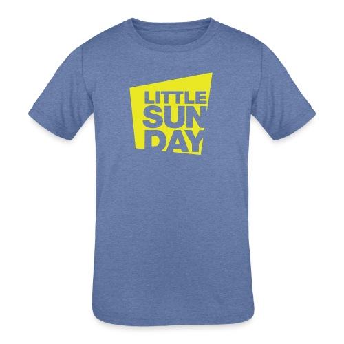 littleSUNDAY Official Logo - Kids' Tri-Blend T-Shirt