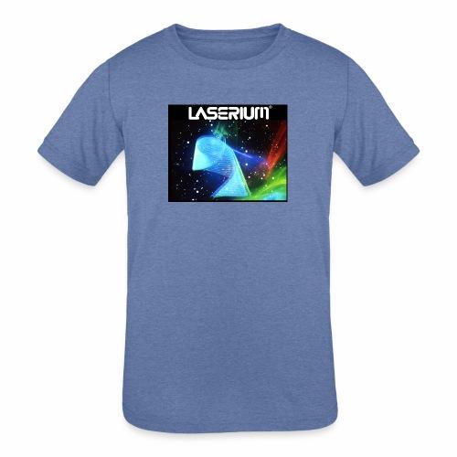 LASERIUM Laser spiral - Kids' Tri-Blend T-Shirt